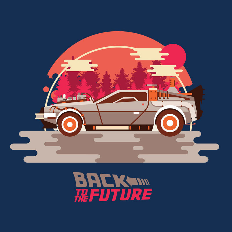 Back To The Future Delorean Forest by Goodmorningnight - Cloud City 7