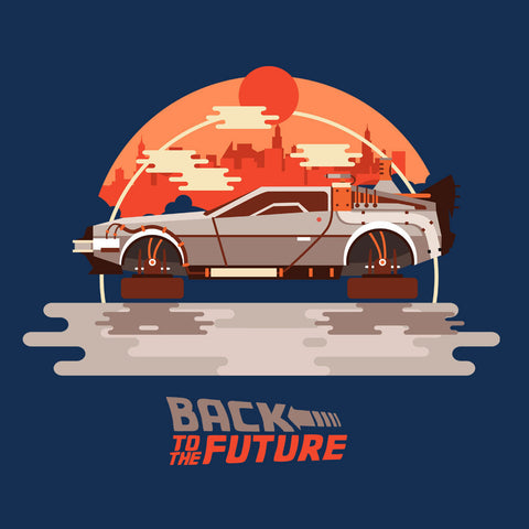 Back To The Future Delorean Flying City
