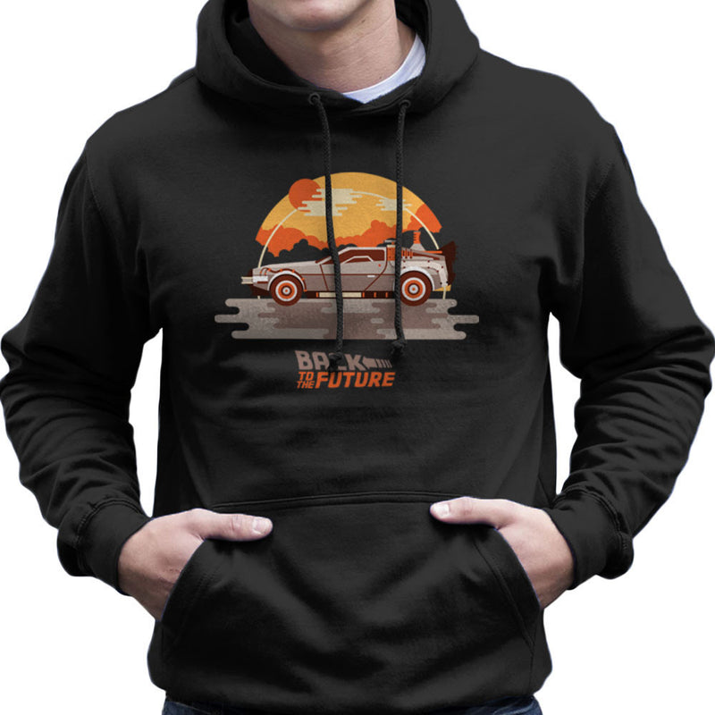 Back To The Future Delorean Clouds Men's Hooded Sweatshirt by Goodmorningnight - Cloud City 7