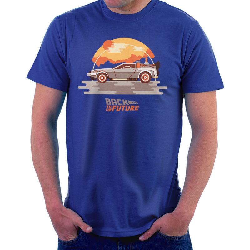 Back To The Future Delorean Clouds Men's T-Shirt by Goodmorningnight - Cloud City 7