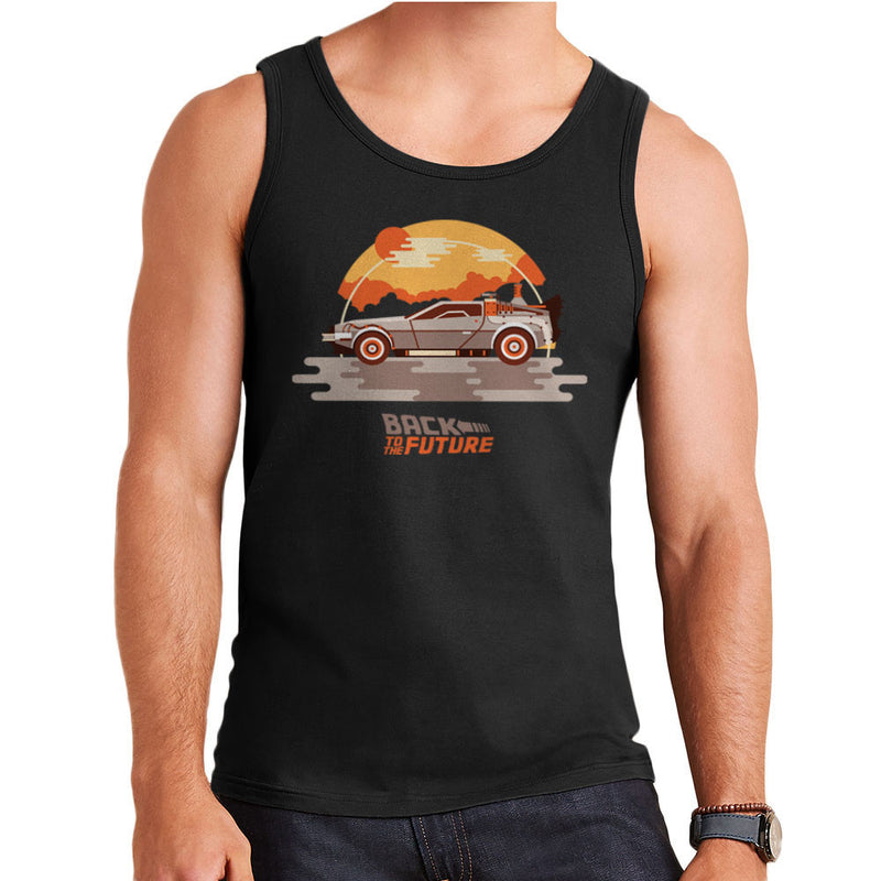 Back To The Future Delorean Clouds Men's Vest by Goodmorningnight - Cloud City 7