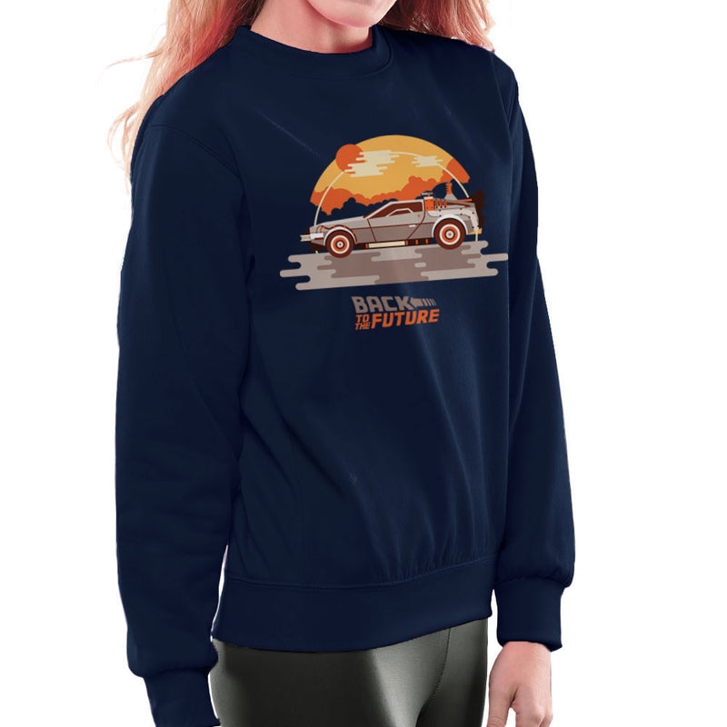 Back To The Future Delorean Clouds Women's Sweatshirt by Goodmorningnight - Cloud City 7