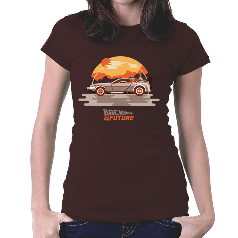 Back To The Future Delorean Clouds Women's T-Shirt by Goodmorningnight - Cloud City 7