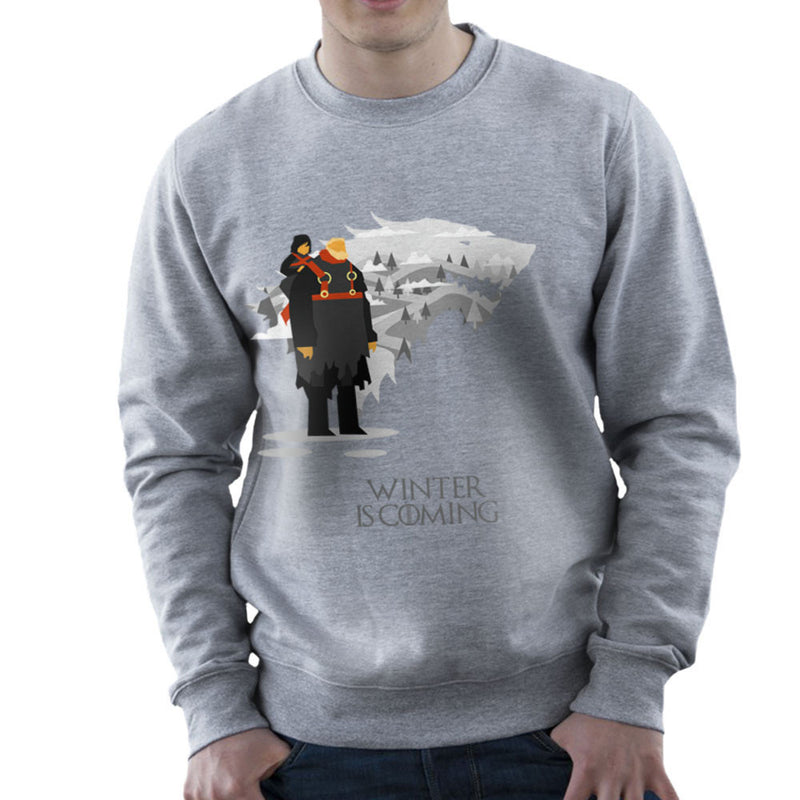 Winter Is Coming Bran And Hodor Game Of Thrones Men's Sweatshirt by Goodmorningnight - Cloud City 7