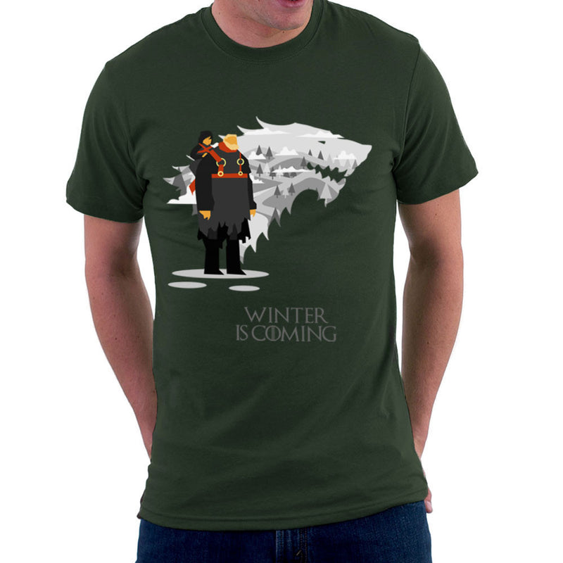 Winter Is Coming Bran And Hodor Game Of Thrones Men's T-Shirt by Goodmorningnight - Cloud City 7