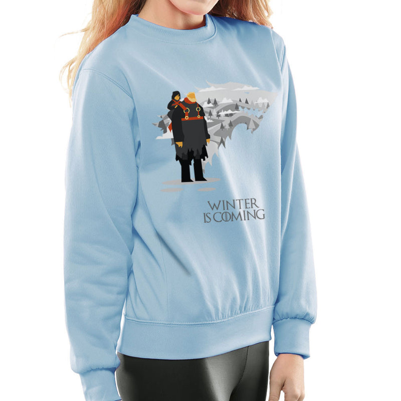Winter Is Coming Bran And Hodor Game Of Thrones Women's Sweatshirt by Goodmorningnight - Cloud City 7