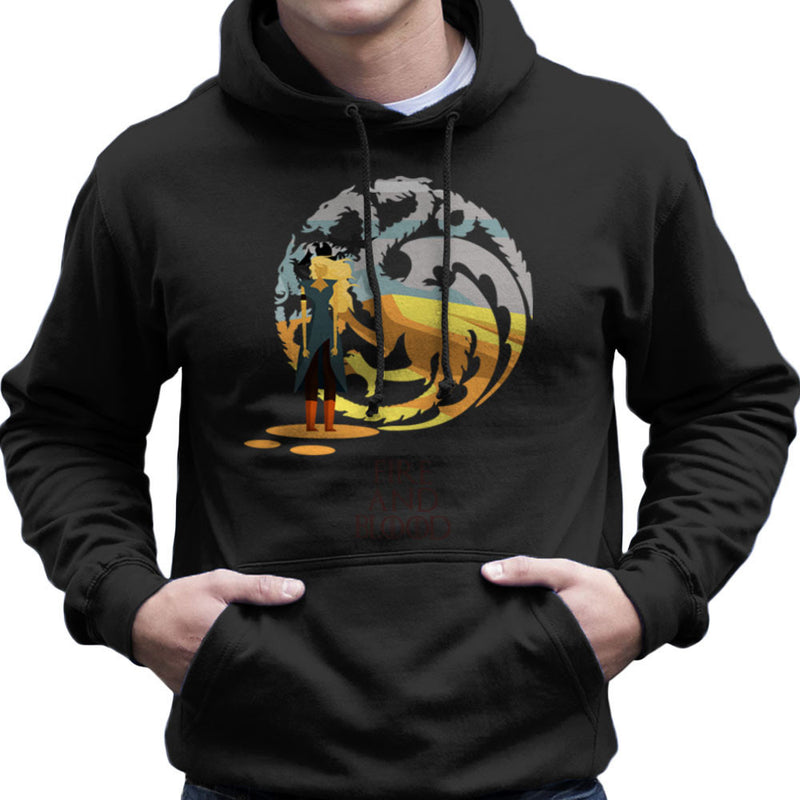 Fire And Blood Daenerys Targaryen Game Of Thrones Men's Hooded Sweatshirt by Goodmorningnight - Cloud City 7