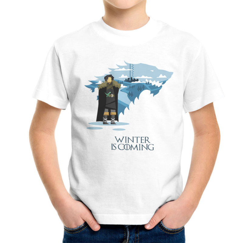 Winter Is Coming Jon Snow Game Of Thrones Kid's T-Shirt by Goodmorningnight - Cloud City 7