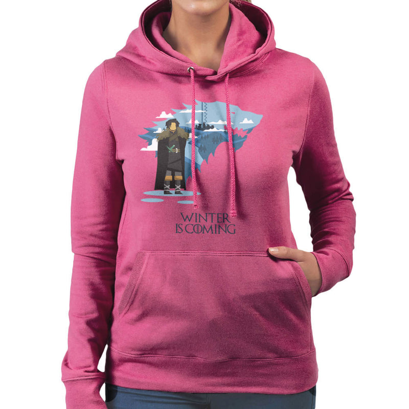 Winter Is Coming Jon Snow Game Of Thrones Women's Hooded Sweatshirt by Goodmorningnight - Cloud City 7