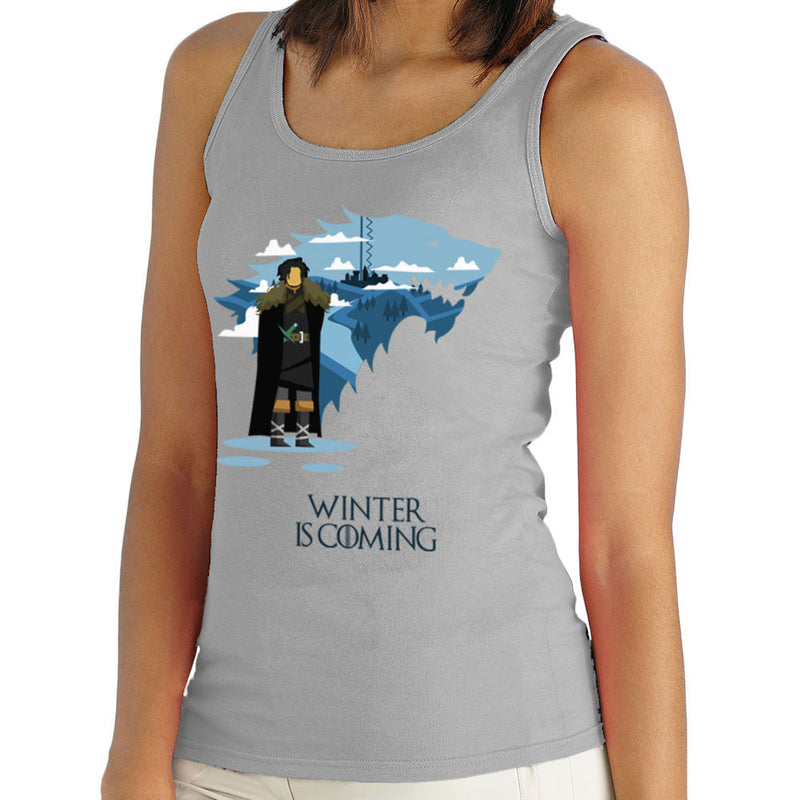 Winter Is Coming Jon Snow Game Of Thrones Women's Vest by Goodmorningnight - Cloud City 7