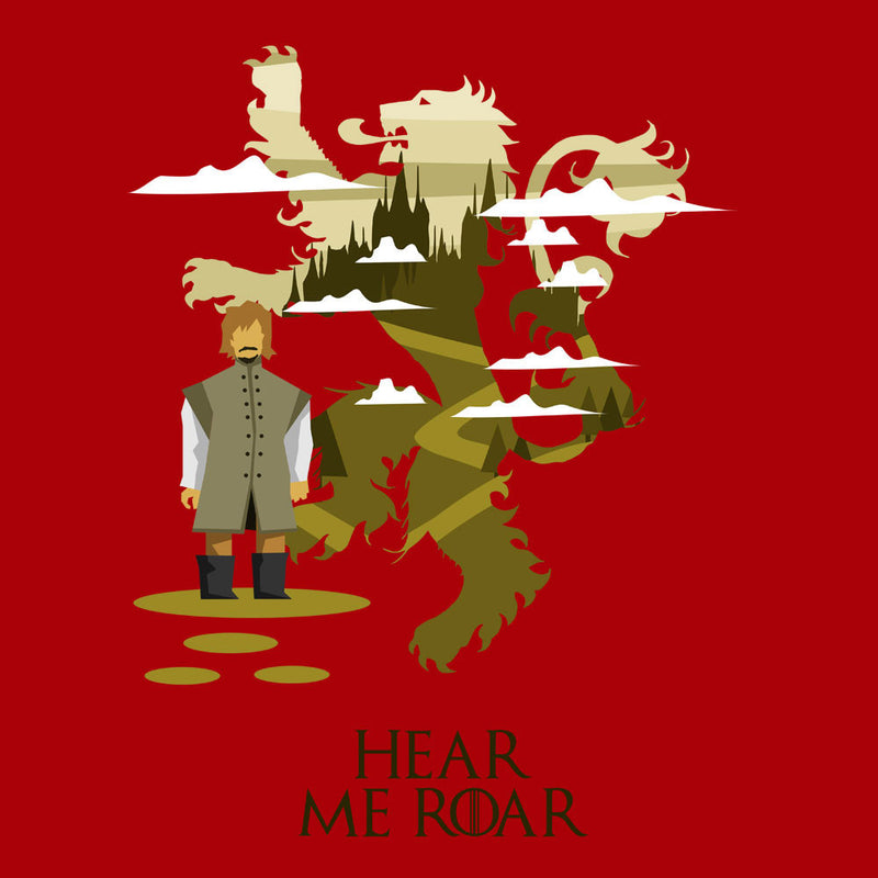 Hear Me Roar Tyrion Lannister Game Of Thrones Men's T-Shirt by Goodmorningnight - Cloud City 7