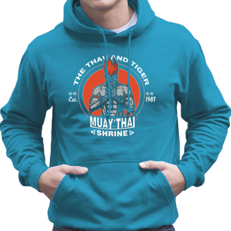 The Thailand Tiger Adon Street Fighter Men's Hooded Sweatshirt by AndreusD - Cloud City 7