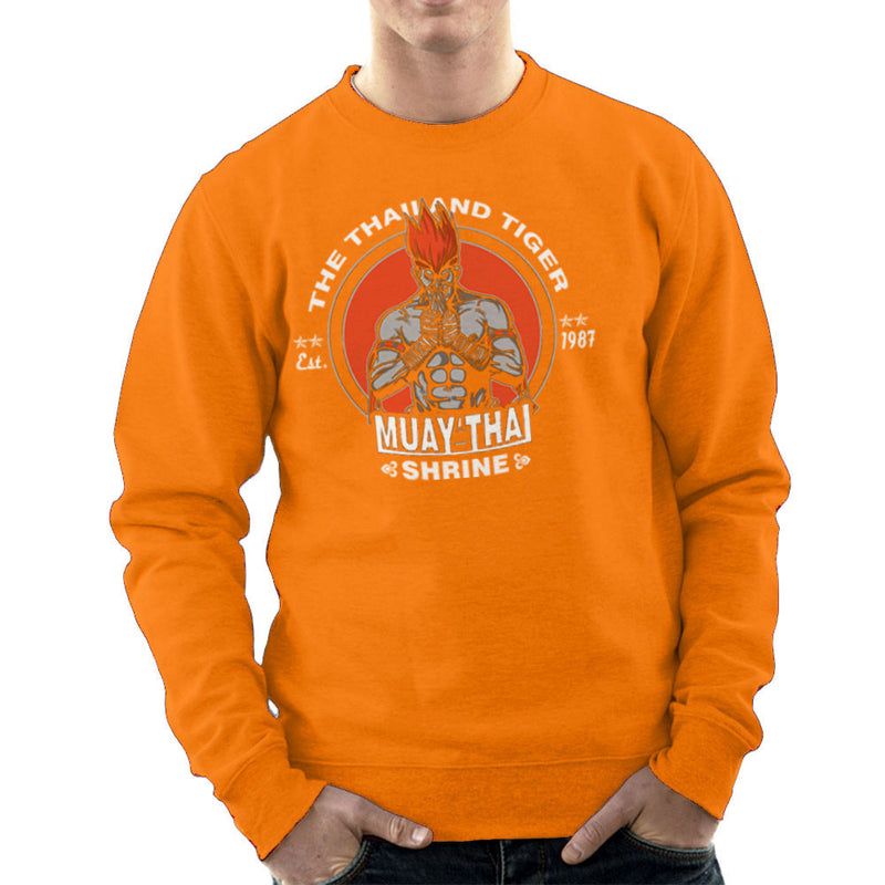 The Thailand Tiger Adon Street Fighter Men's Sweatshirt by AndreusD - Cloud City 7