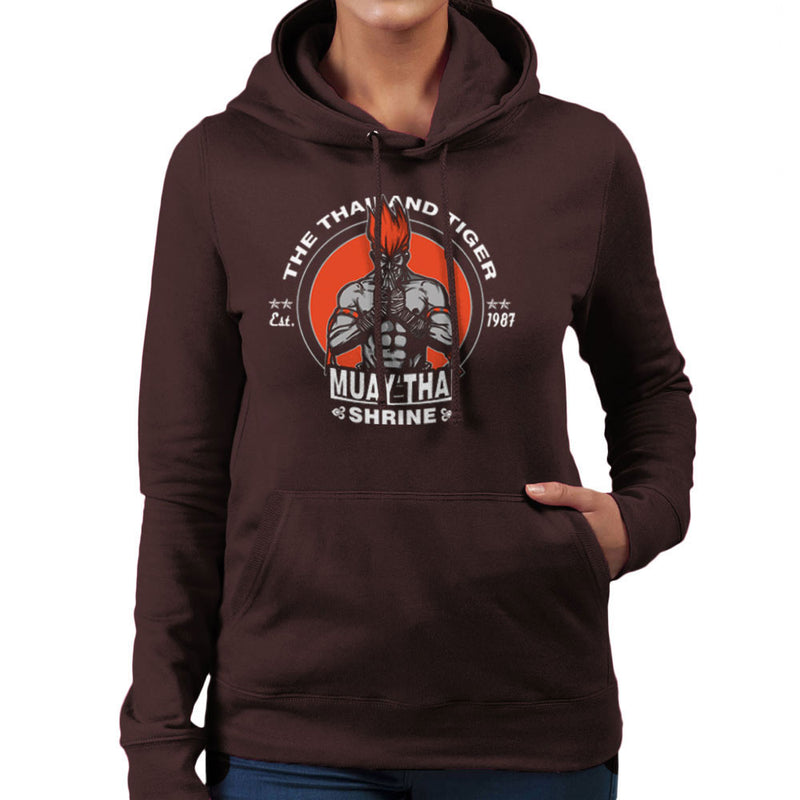 The Thailand Tiger Adon Street Fighter Women's Hooded Sweatshirt by AndreusD - Cloud City 7