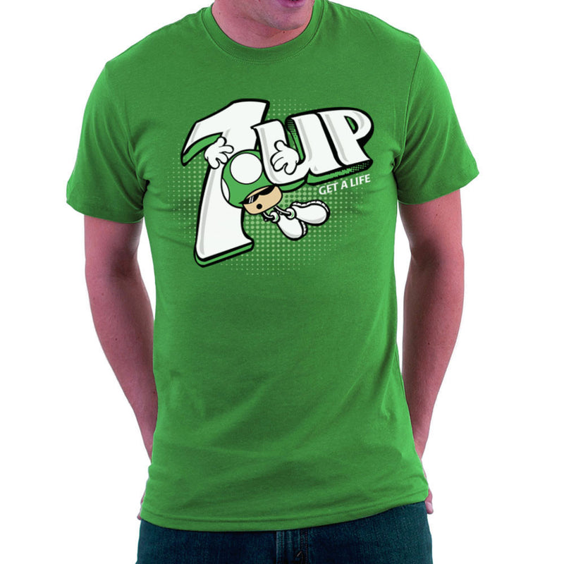 1Up Super Mario Bros Green Mushroom 7Up Logo