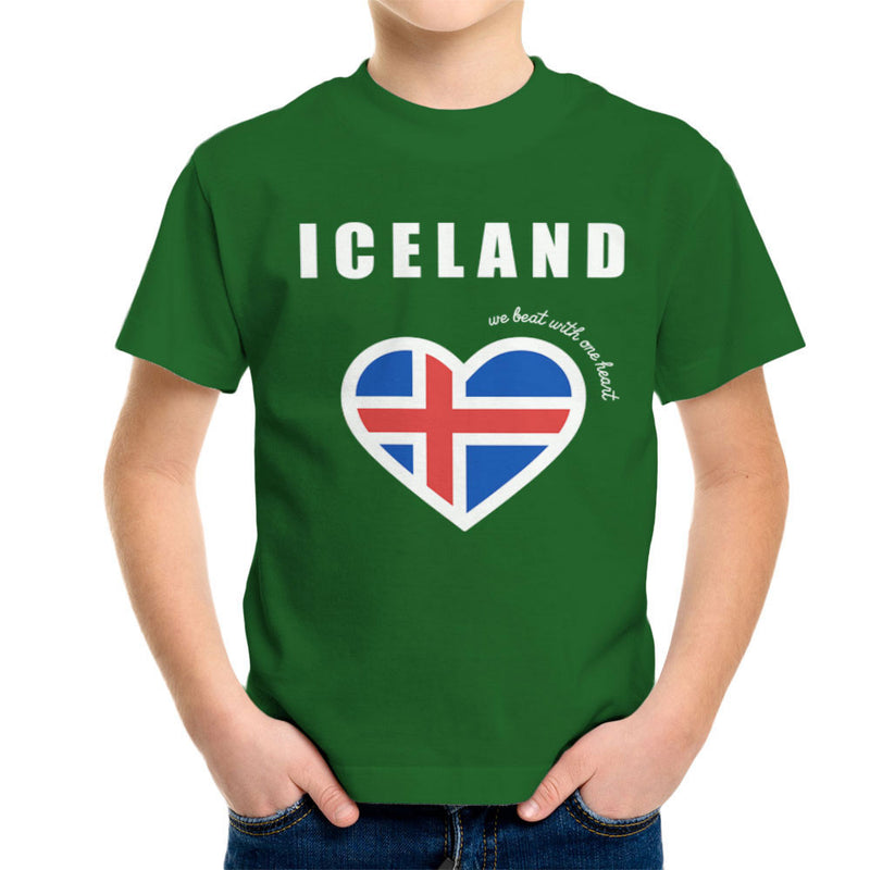 Euro Football Iceland We Beat With One Heart England Victory Kid's T-Shirt by Kempo24 - Cloud City 7