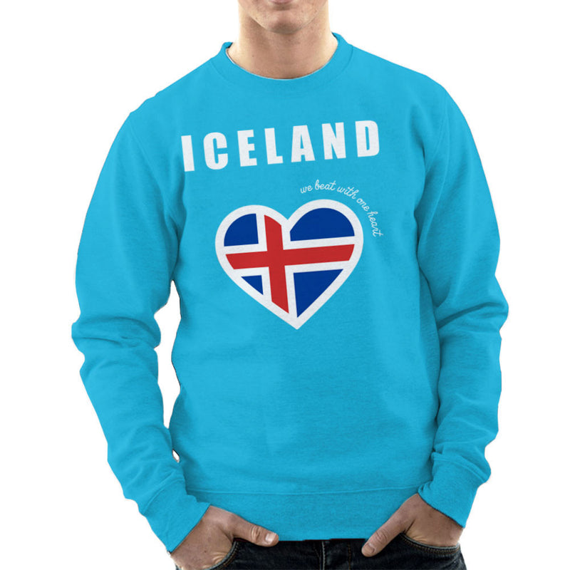 Euro Football Iceland We Beat With One Heart England Victory Men's Sweatshirt by Kempo24 - Cloud City 7