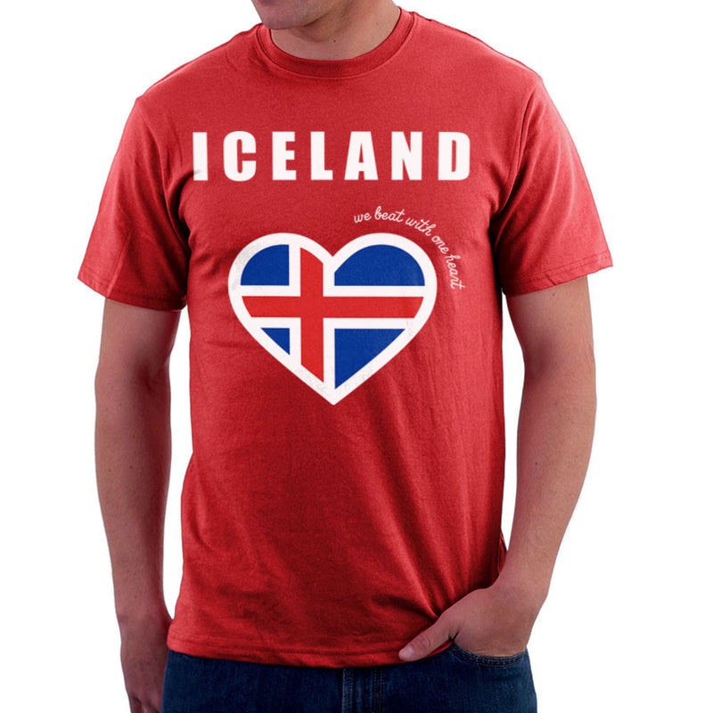 Euro Football Iceland We Beat With One Heart England Victory Men's T-Shirt by Kempo24 - Cloud City 7