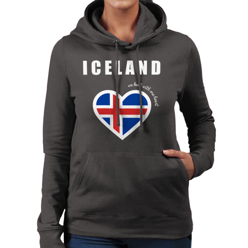 Euro Football Iceland We Beat With One Heart England Victory Women's Hooded Sweatshirt by Kempo24 - Cloud City 7