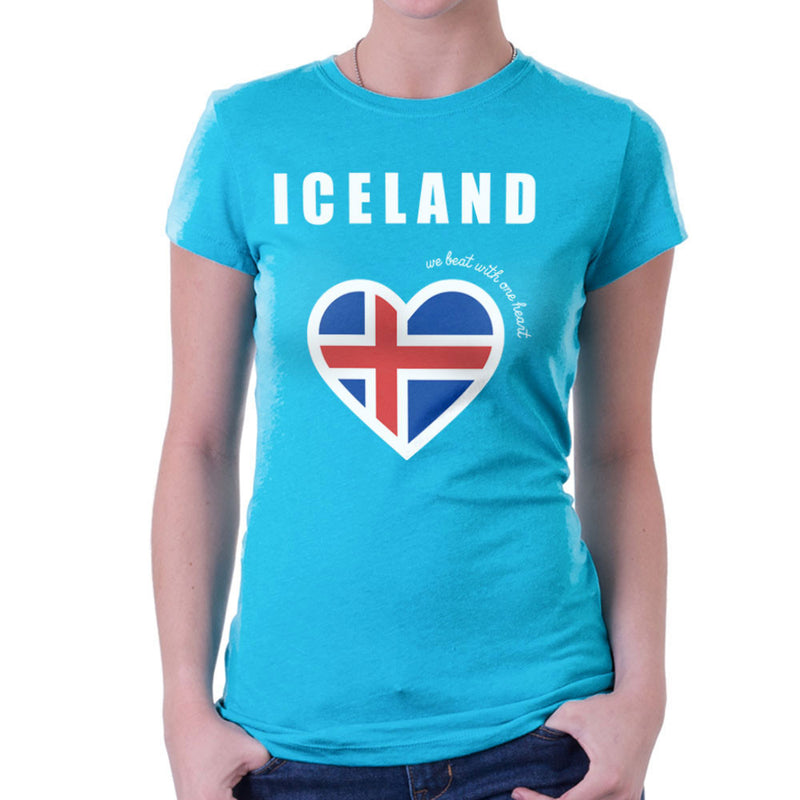 Euro Football Iceland We Beat With One Heart England Victory Women's T-Shirt by Kempo24 - Cloud City 7