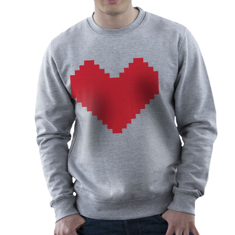 Pixel Heart Men's Sweatshirt by DarkChoocoolat - Cloud City 7