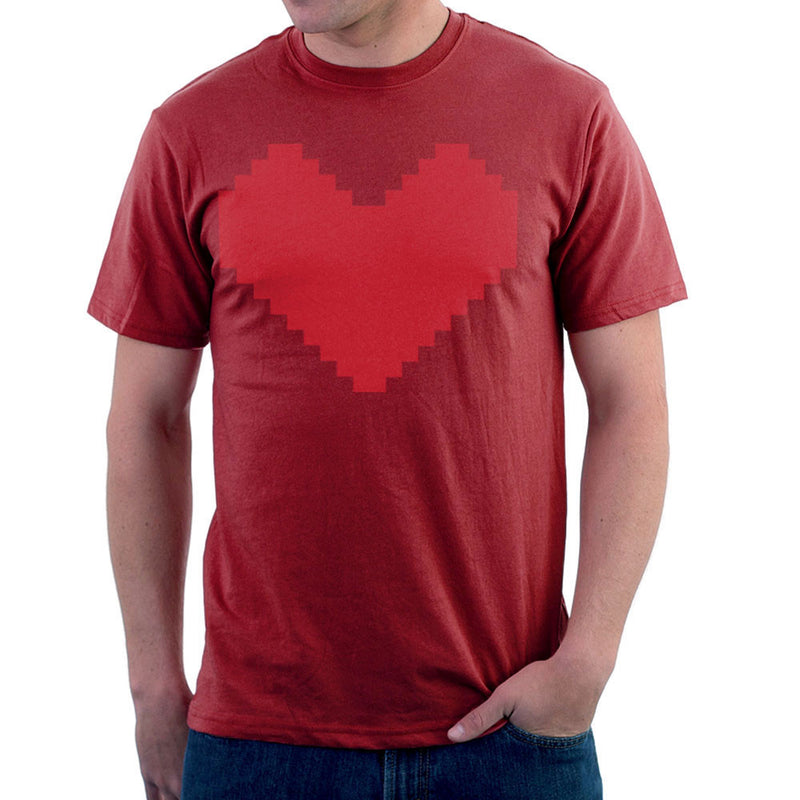 Pixel Heart Men's T-Shirt by DarkChoocoolat - Cloud City 7