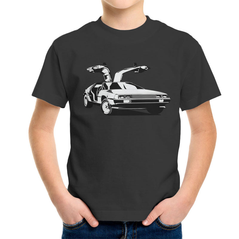 Delorean Back To The Future Kid's T-Shirt by DarkChoocoolat - Cloud City 7