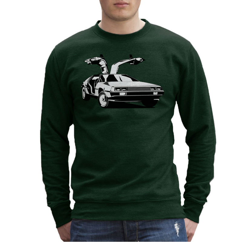 Delorean Back To The Future Men's Sweatshirt by DarkChoocoolat - Cloud City 7