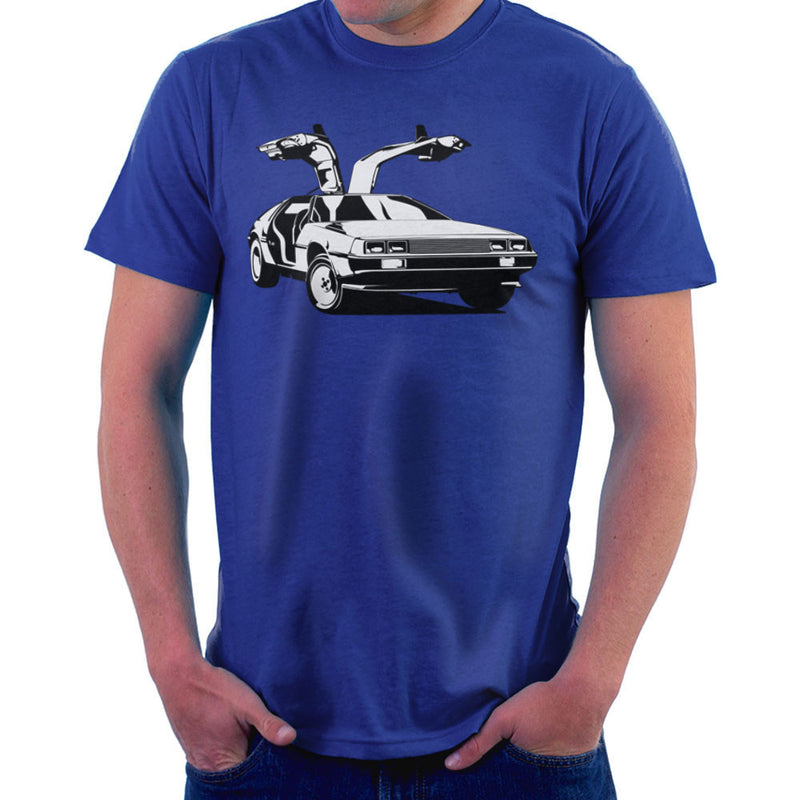Delorean Back To The Future Men's T-Shirt by DarkChoocoolat - Cloud City 7