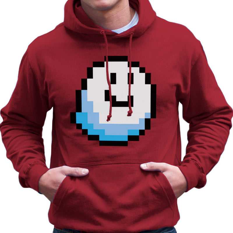 Fantomini Ghost Mario Pixel Smile Men's Hooded Sweatshirt by DarkChoocoolat - Cloud City 7