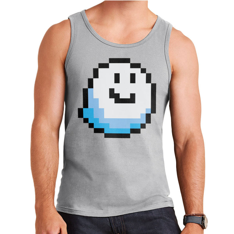 Fantomini Ghost Mario Pixel Smile Men's Vest by DarkChoocoolat - Cloud City 7