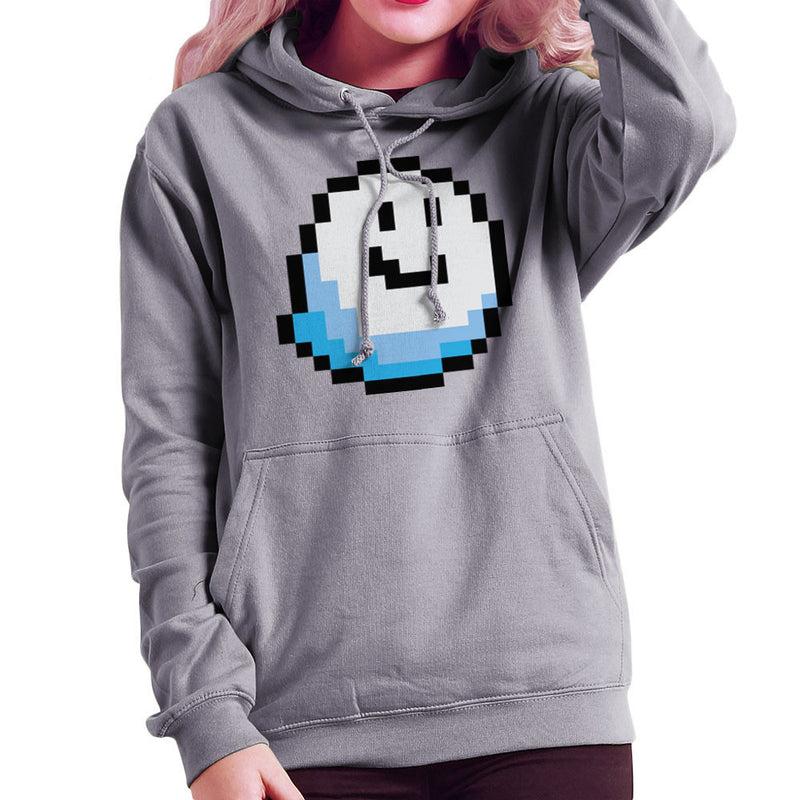 Fantomini Ghost Mario Pixel Smile Women's Hooded Sweatshirt by DarkChoocoolat - Cloud City 7