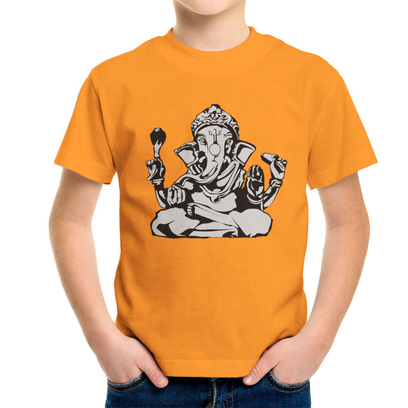Ganesh Hindu God Kid's T-Shirt by DarkChoocoolat - Cloud City 7