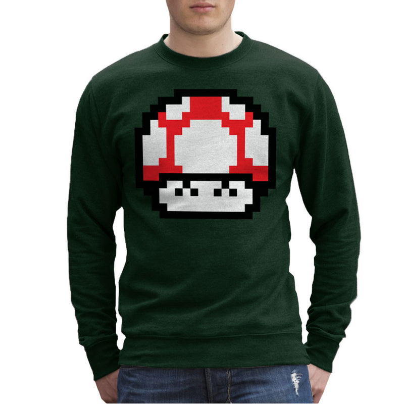 Super Mario Mushroom Red Laughing Men's Sweatshirt by DarkChoocoolat - Cloud City 7