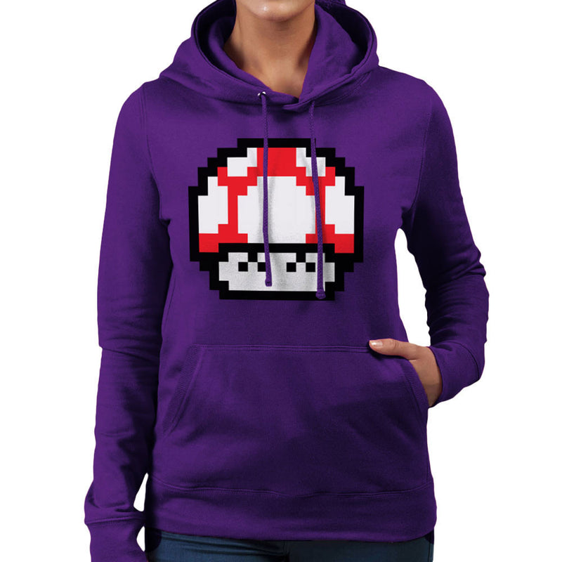 Super Mario Mushroom Red Laughing Women's Hooded Sweatshirt by DarkChoocoolat - Cloud City 7