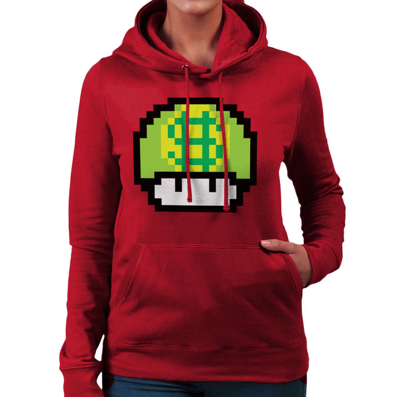 Super Mario Mushroom Dollar Women's Hooded Sweatshirt by DarkChoocoolat - Cloud City 7