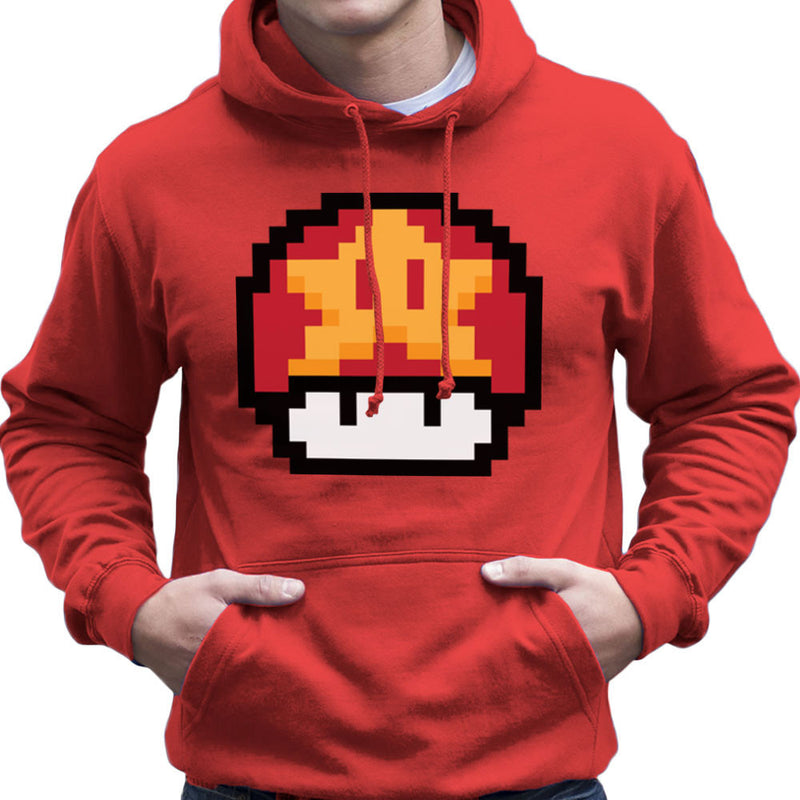 Super Mario Mushroom Star Men's Hooded Sweatshirt by DarkChoocoolat - Cloud City 7