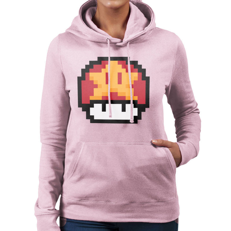 Super Mario Mushroom Star Women's Hooded Sweatshirt by DarkChoocoolat - Cloud City 7