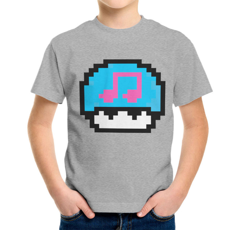 Super Mario Mushroom Musical Note Kid's T-Shirt by DarkChoocoolat - Cloud City 7