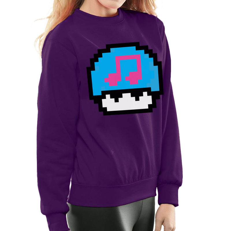 Super Mario Mushroom Musical Note Women's Sweatshirt by DarkChoocoolat - Cloud City 7