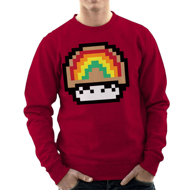 Super Mario Mushroom Rainbow Men's Sweatshirt by DarkChoocoolat - Cloud City 7