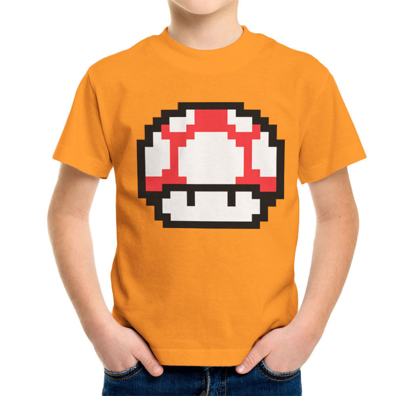 Super Mario Mushroom Red White Spots Kid's T-Shirt by DarkChoocoolat - Cloud City 7