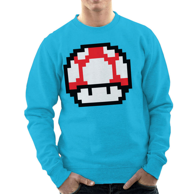 Super Mario Mushroom Red White Spots Men's Sweatshirt by DarkChoocoolat - Cloud City 7