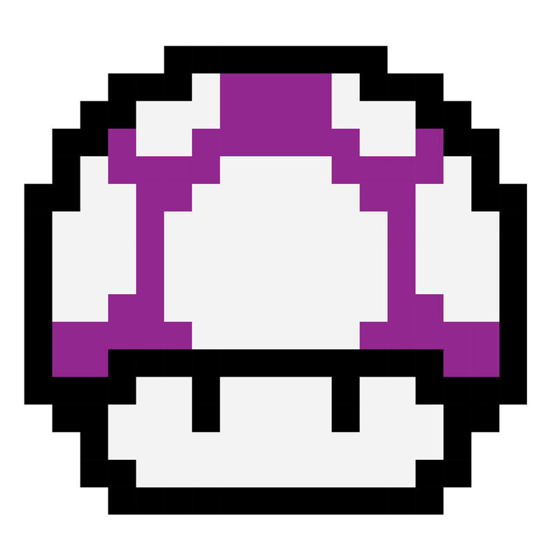 Super Mario Mushroom Purple White Spots by DarkChoocoolat - Cloud City 7