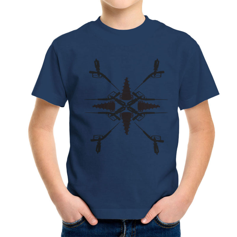 Adam Syringe And Big Daddy Drill Pattern Bioshock Kid's T-Shirt by Lazy Nugu - Cloud City 7