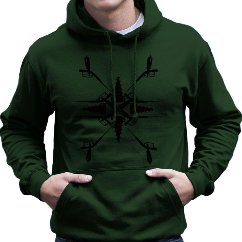 Adam Syringe And Big Daddy Drill Pattern Bioshock Men's Hooded Sweatshirt by Lazy Nugu - Cloud City 7