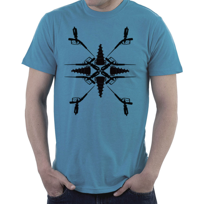 Adam Syringe And Big Daddy Drill Pattern Bioshock Men's T-Shirt by Lazy Nugu - Cloud City 7
