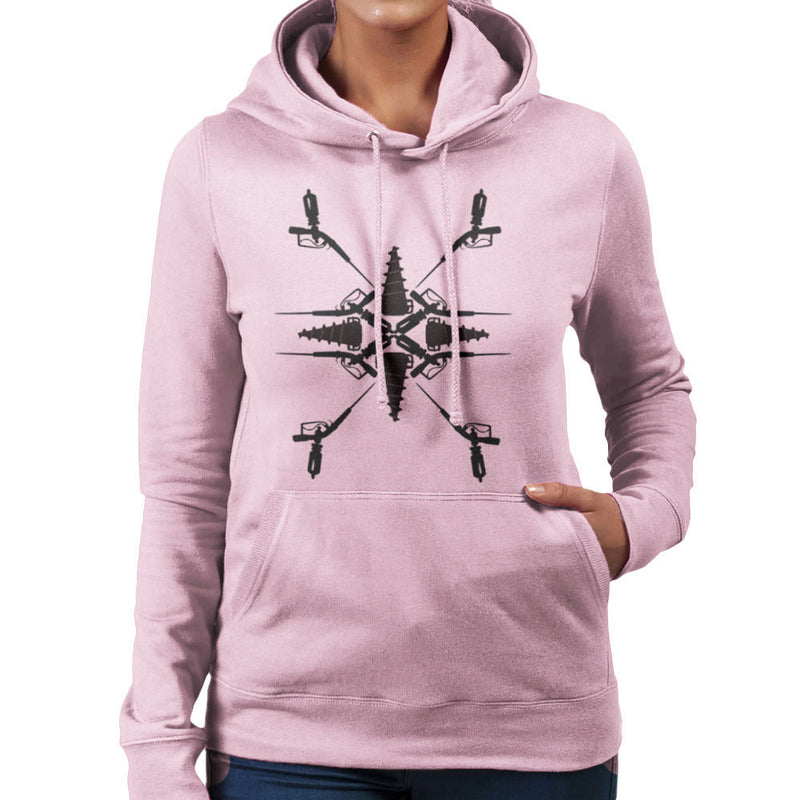 Adam Syringe And Big Daddy Drill Pattern Bioshock Women's Hooded Sweatshirt by Lazy Nugu - Cloud City 7