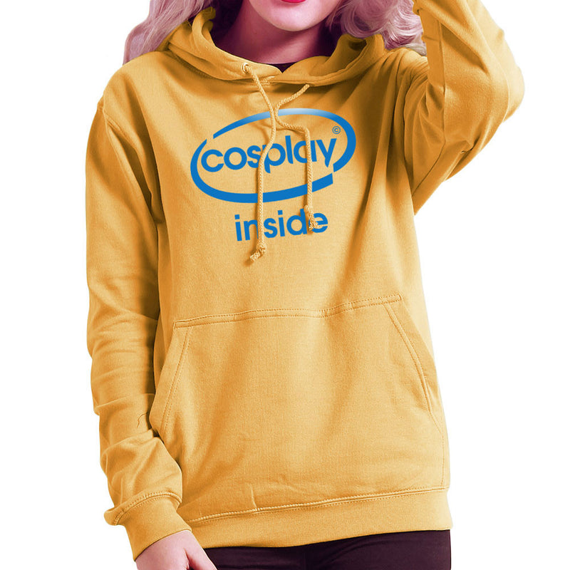 Cosplay Inside Intel Logo Costume Roleplay Women's Hooded Sweatshirt by Kempo24 - Cloud City 7