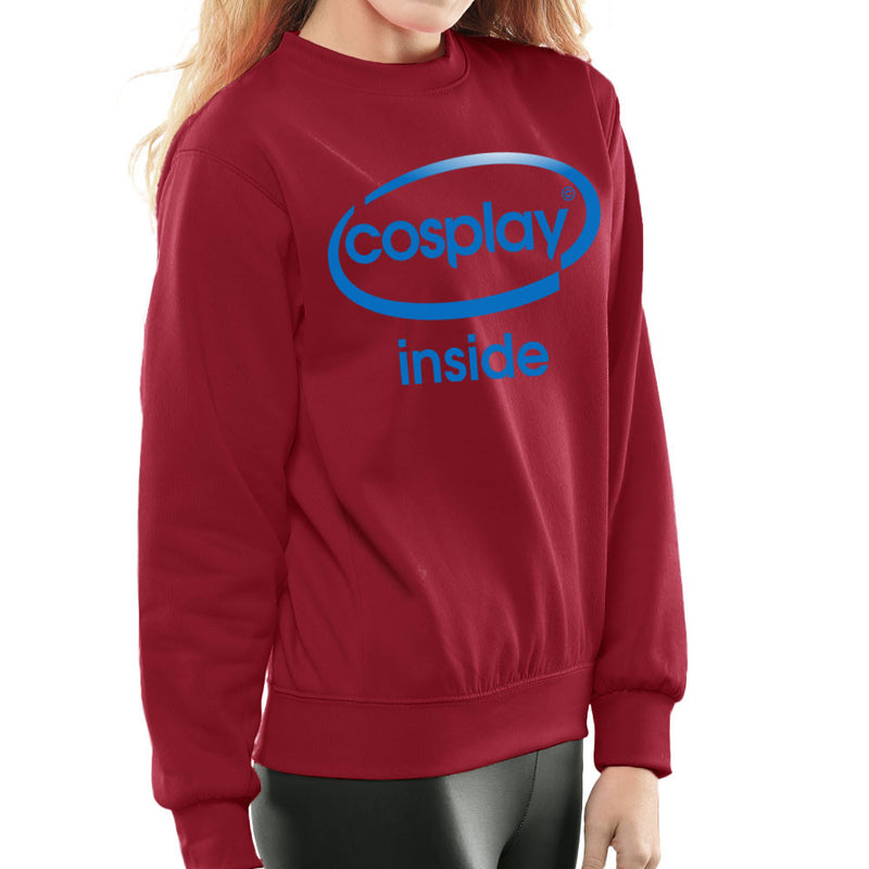 Cosplay Inside Intel Logo Costume Roleplay Women's Sweatshirt by Kempo24 - Cloud City 7
